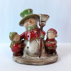 Yankee Candle Snowman Child Tea Light Candle Holder Ronnie Walter Christmas